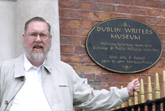 Steve at Dublin Writers Museum
